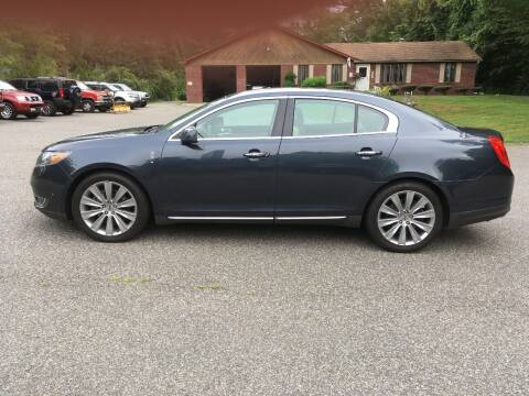 2013 Lincoln MKS for sale at Lou Rivers Used Cars in Palmer MA
