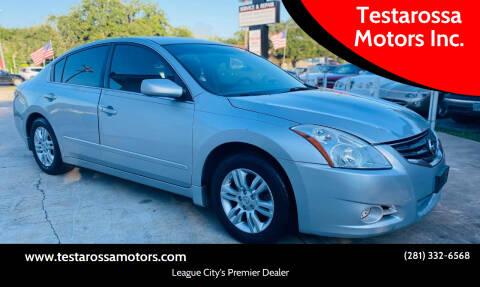 2010 Nissan Altima for sale at Testarossa Motors Inc. in League City TX