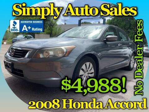 2008 Honda Accord for sale at Simply Auto Sales in Palm Beach Gardens FL