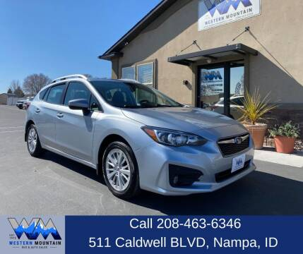 2018 Subaru Impreza for sale at Western Mountain Bus & Auto Sales in Nampa ID