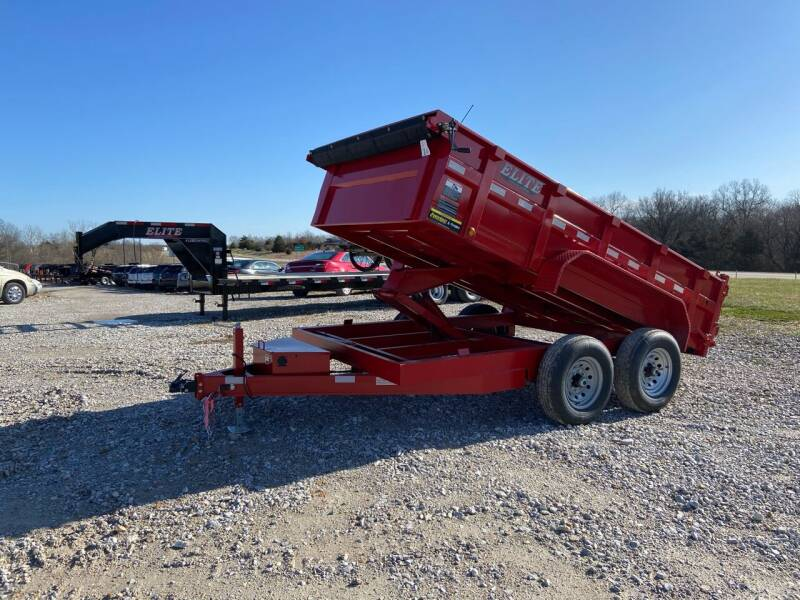 "2021 Elite 83""x12 Bumper Dump Trailer for sale at Ken's Auto Sales & Repairs in New Bloomfield MO"