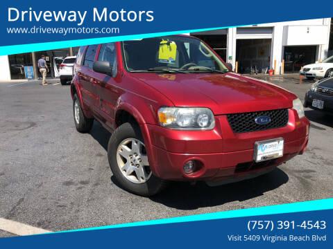 2006 Ford Escape for sale at Driveway Motors in Virginia Beach VA