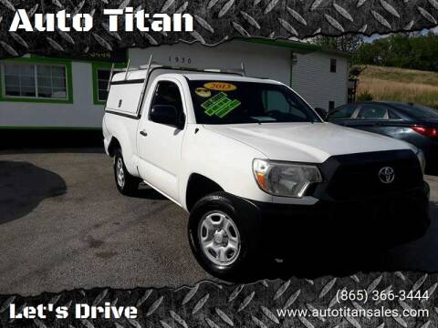 2013 Toyota Tacoma for sale at Auto Titan in Knoxville TN