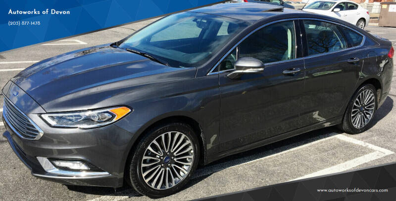 2018 Ford Fusion for sale at Autoworks of Devon in Milford CT