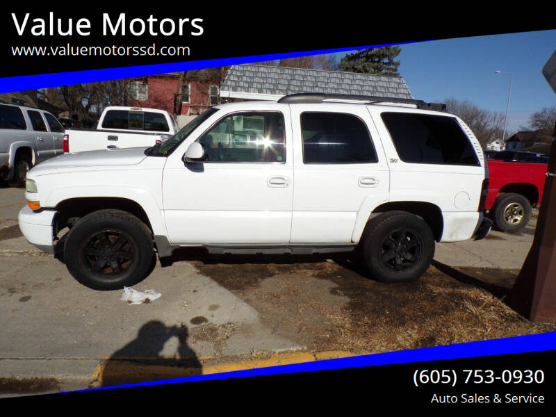 2003 Chevrolet Tahoe for sale at Value Motors in Watertown SD