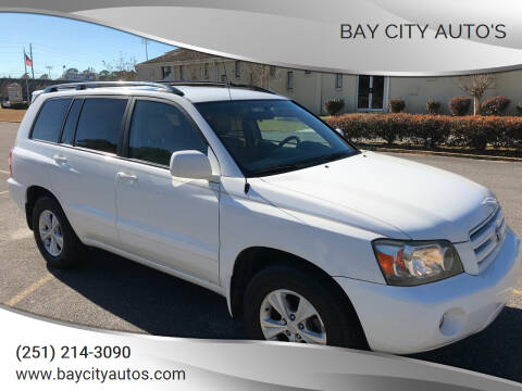 2007 Toyota Highlander for sale at Bay City Auto's in Mobile AL