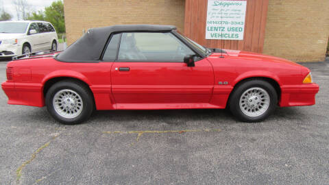 1988 Ford Mustang for sale at LENTZ USED VEHICLES INC in Waldo WI
