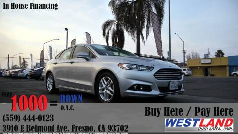2015 Ford Fusion for sale at Westland Auto Sales in Fresno CA