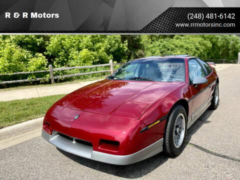 1987 Pontiac Fiero for sale at R & R Motors in Waterford MI