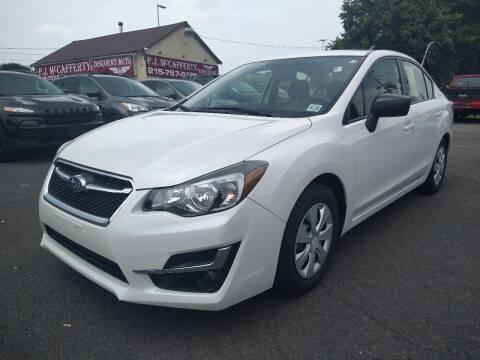 2016 Subaru Impreza for sale at P J McCafferty Inc in Langhorne PA