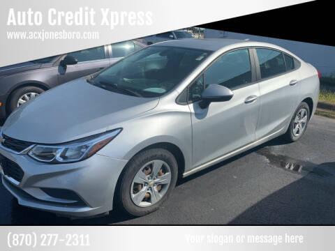 2017 Chevrolet Cruze for sale at Auto Credit Xpress - Jonesboro in Jonesboro AR