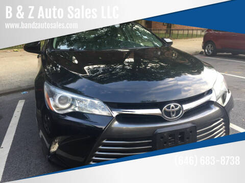 2016 Toyota Camry for sale at B & Z Auto Sales LLC in Delran NJ