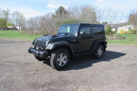 2012 Jeep Wrangler for sale at Clearwater Motor Car in Jamestown NY