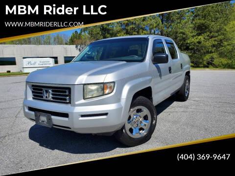 2008 Honda Ridgeline for sale at MBM Rider LLC in Alpharetta GA