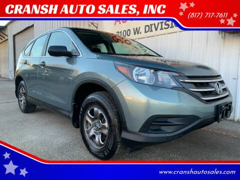 2012 Honda CR-V for sale at CRANSH AUTO SALES, INC in Arlington TX