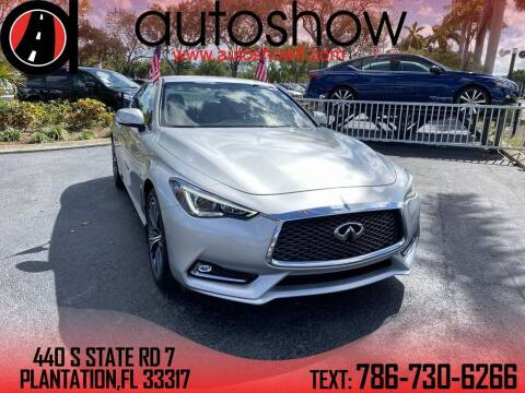 2017 Infiniti Q60 for sale at AUTOSHOW SALES & SERVICE in Plantation FL