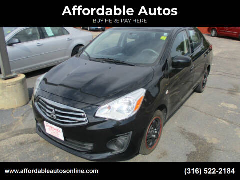 2017 Mitsubishi Mirage G4 for sale at Affordable Autos in Wichita KS