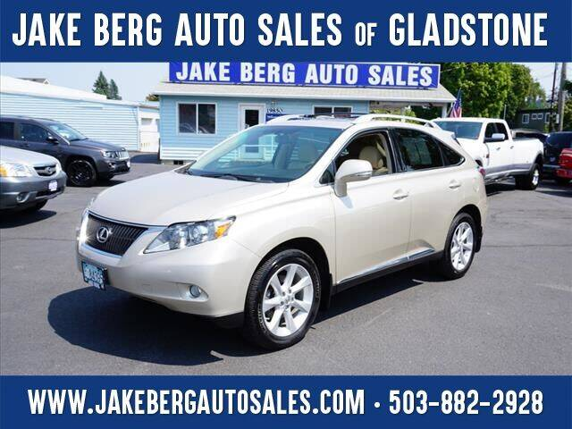 2012 Lexus RX 350 for sale at Jake Berg Auto Sales in Gladstone OR