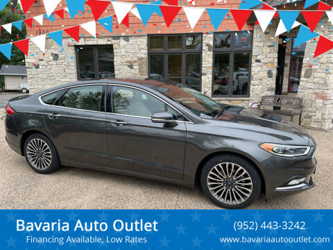 2018 Ford Fusion for sale at Bavaria Auto Outlet in Victoria MN