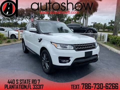 2016 Land Rover Range Rover Sport for sale at AUTOSHOW SALES & SERVICE in Plantation FL