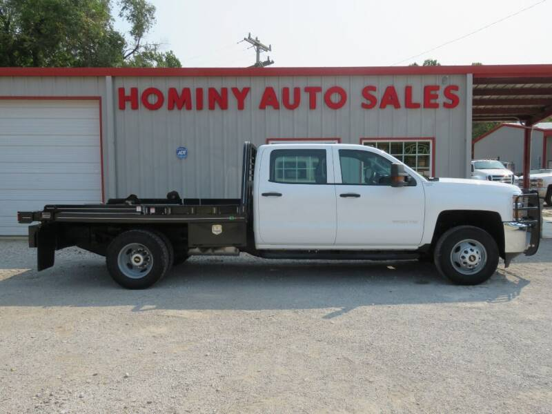 2016 Chevrolet Silverado 3500HD CC for sale at HOMINY AUTO SALES in Hominy OK