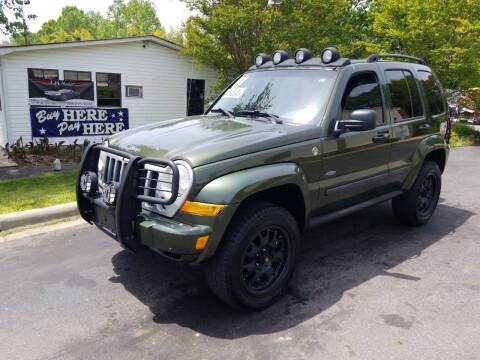 2007 Jeep Liberty for sale at TR MOTORS in Gastonia NC