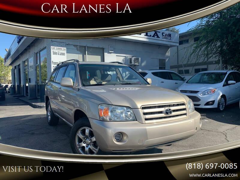 2004 Toyota Highlander for sale at Car Lanes LA in Valley Village CA