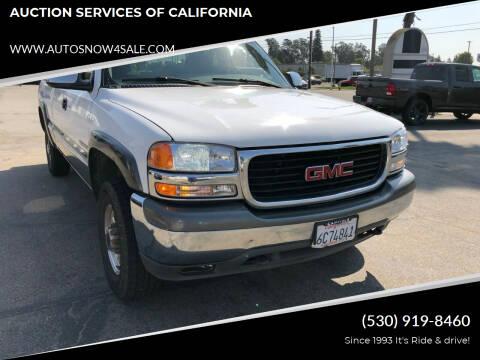 2000 GMC Sierra 2500 for sale at AUCTION SERVICES OF CALIFORNIA in El Dorado CA