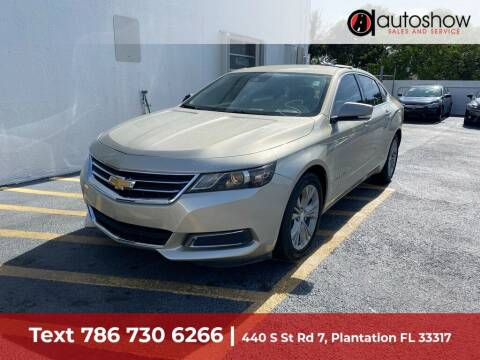 2014 Chevrolet Impala for sale at AUTOSHOW SALES & SERVICE in Plantation FL