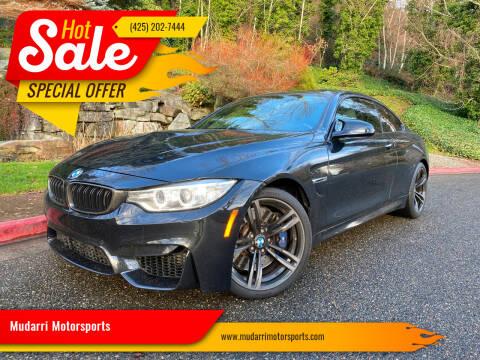 2016 BMW M4 for sale at Mudarri Motorsports in Kirkland WA