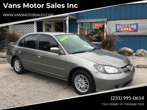 2004 Honda Civic for sale at Vans Motor Sales Inc in Traverse City MI