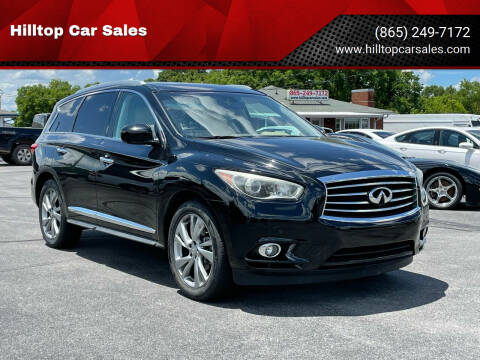 2013 Infiniti JX35 for sale at Hilltop Car Sales in Knoxville TN