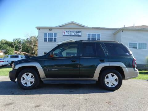 2002 Chevrolet TrailBlazer for sale at SOUTHERN SELECT AUTO SALES in Medina OH