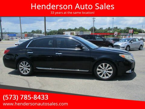 2012 Toyota Avalon for sale at Henderson Auto Sales in Poplar Bluff MO