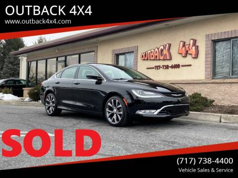2015 Chrysler 200 for sale at OUTBACK 4X4 in Ephrata PA