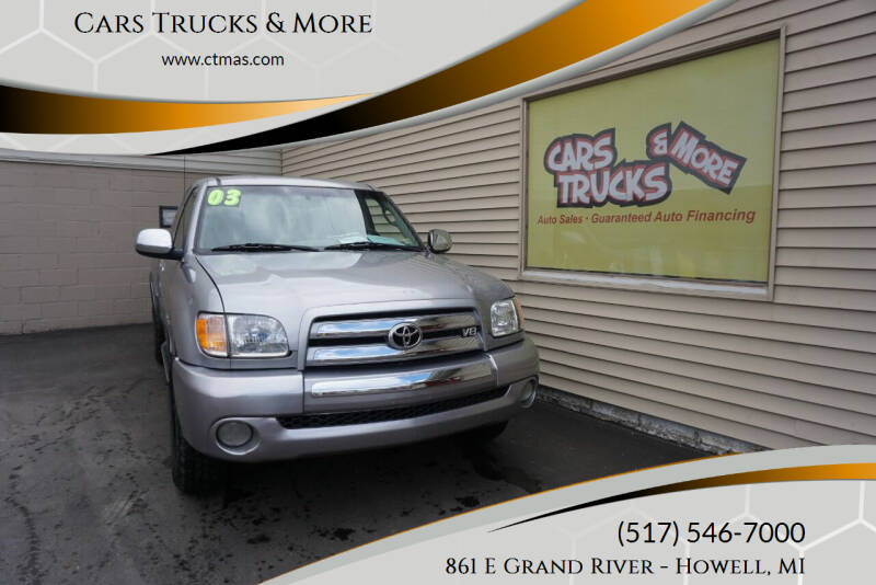 2003 Toyota Tundra for sale at Cars Trucks & More in Howell MI