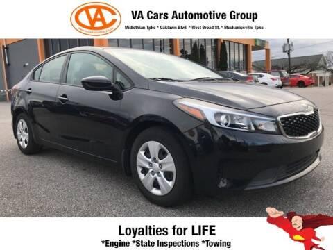 2017 Kia Forte for sale at VA Cars Inc in Richmond VA