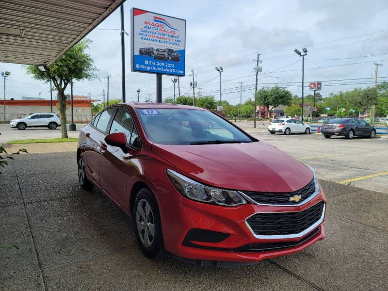 2017 Chevrolet Cruze for sale at Magic Auto Sales in Dallas TX