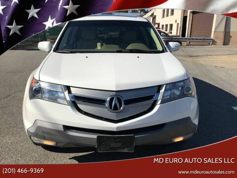 2009 Acura MDX for sale at MD Euro Auto Sales LLC in Hasbrouck Heights NJ