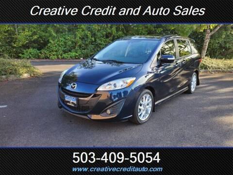 2014 Mazda MAZDA5 for sale at Creative Credit & Auto Sales in Salem OR