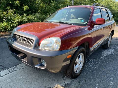 2003 Hyundai Santa Fe for sale at JM Auto Sales in Shenandoah PA