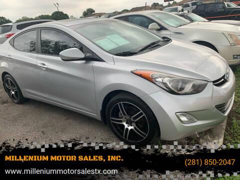 2012 Hyundai Elantra for sale at MILLENIUM MOTOR SALES, INC. in Rosenberg TX