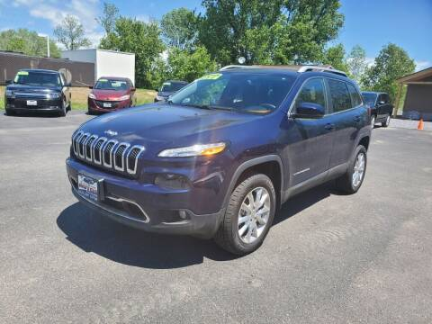 2015 Jeep Cherokee for sale at Excellent Autos in Amsterdam NY