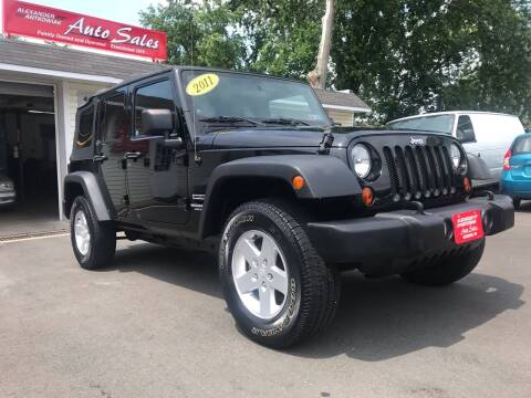2011 Jeep Wrangler Unlimited for sale at Alexander Antkowiak Auto Sales in Hatboro PA