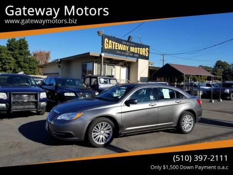 2013 Chrysler 200 for sale at Gateway Motors in Hayward CA
