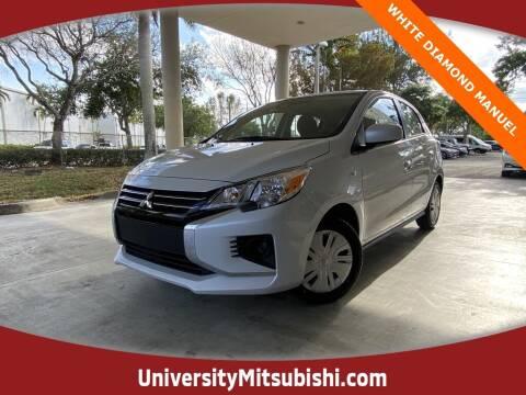 2021 Mitsubishi Mirage for sale at University Mitsubishi in Davie FL