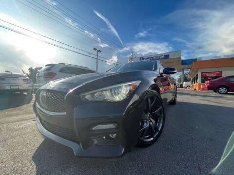 2015 Infiniti Q50 for sale at LATINOS MOTOR OF ORLANDO in Orlando FL