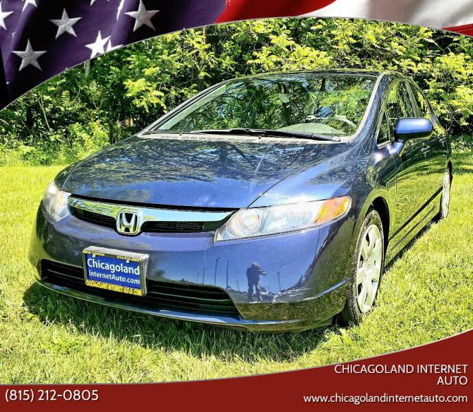 2008 Honda Civic for sale at Chicagoland Internet Auto - 410 N Vine St New Lenox IL, 60451 in New Lenox IL