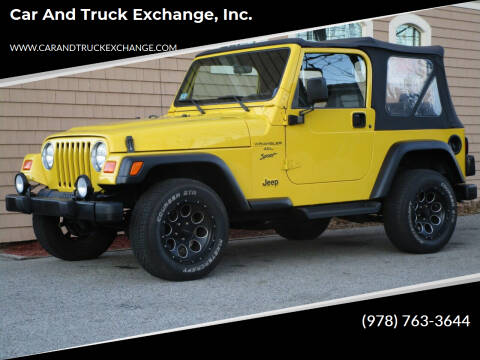 2001 Jeep Wrangler for sale at Car and Truck Exchange, Inc. in Rowley MA