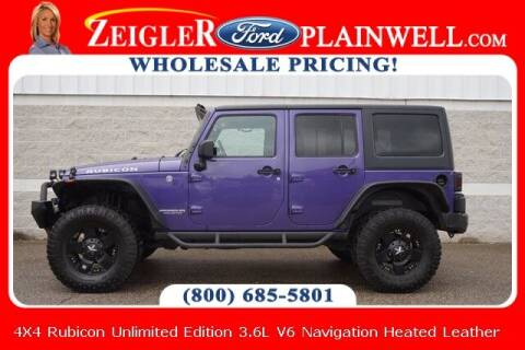 2017 Jeep Wrangler Unlimited for sale at Zeigler Ford of Plainwell- Jeff Bishop in Plainwell MI